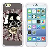 TurtleArmor ® | Apple iPhone 6 Plus Case | 6s Plus Case [Slim Duo] Slim Snap On 2 Piece Hard Cover Protector Rubberized Coating Unique Designs on White - Motorbike Skull