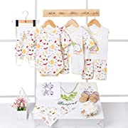 BANJVALL 18 Pieces Essential Baby Layette Set,Basic Essentials,Baby Gift,0-6 M