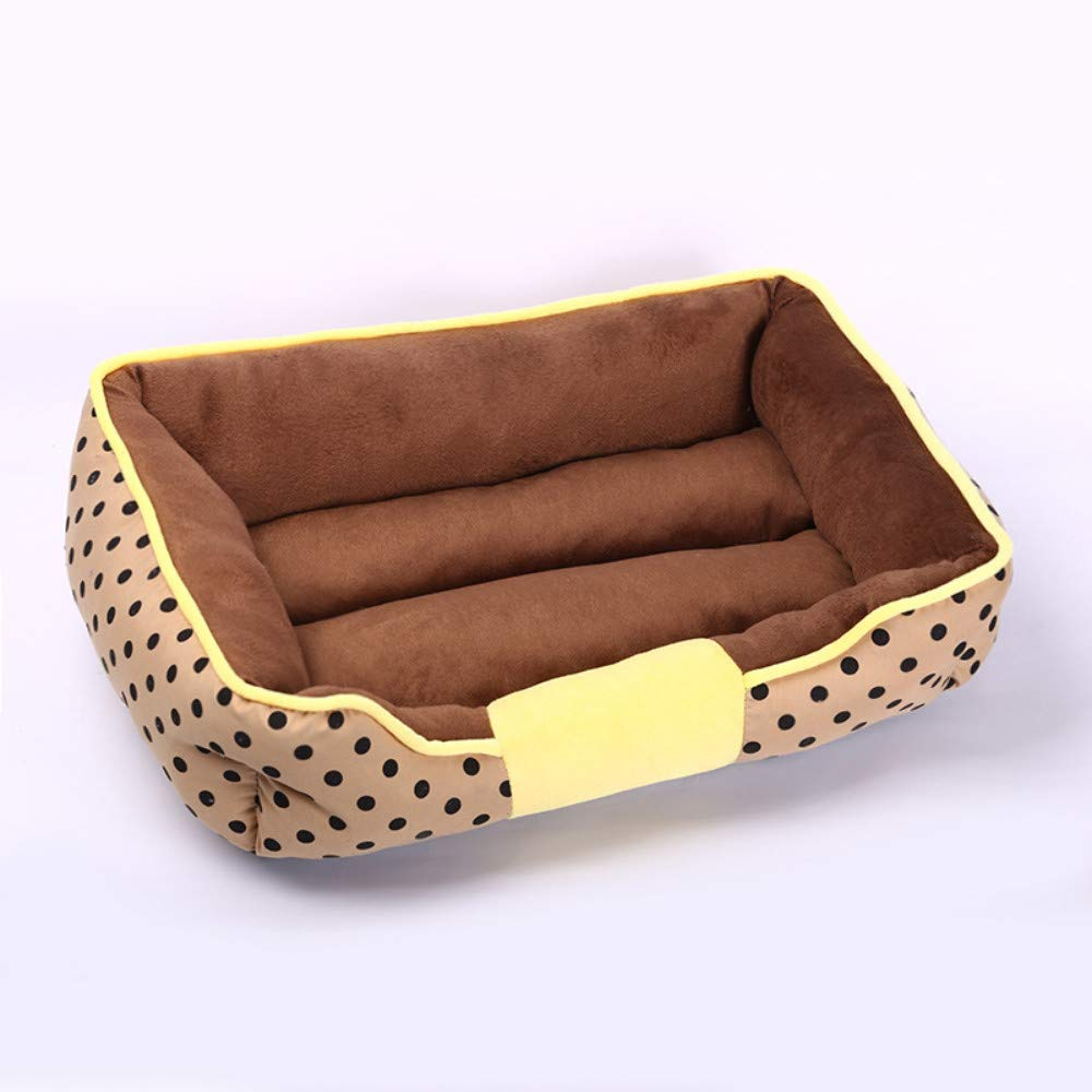 52x40cm WALSITK Large, medium and small dogs and cats kennel simple big dot fashion pet dog mat cat nest pet supplies khaki, 52x40cm