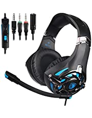 PS4 Xbox One Gaming Headset, SADES SA822 PC Gaming Headphone Stereo Sound Over-Ear Headphone with Microphone Volume Control