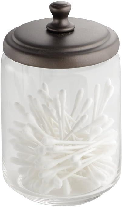 mDesign - Frasco de boticario, de vidrio, para el tocador; guarda ...