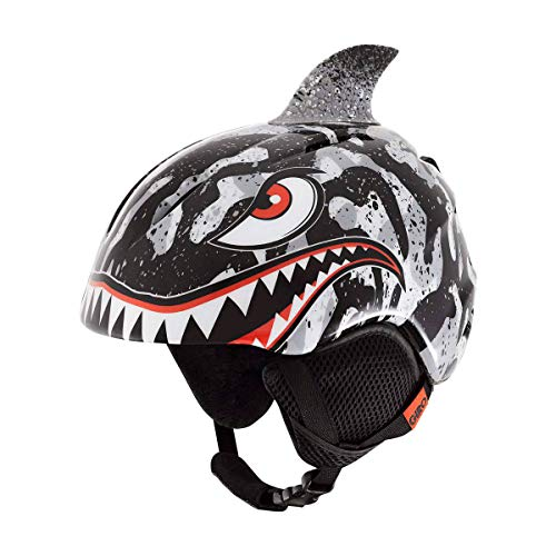 Tiger Helmet - Giro Launch Plus Kids Snow Helmet Black/Grey Tiger Shark SM 52–55.5cm