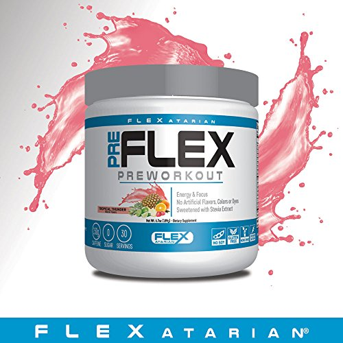 Flexatarian Pre-Flex, All-Natural Preworkout Formula, Tropical Thunder, 30 Servings by Flexatarian (Image #6)