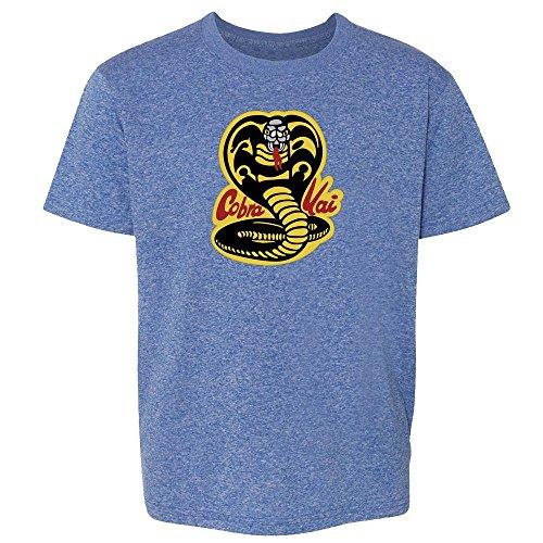 - Cobra Kai Karate Kid Dojo Retro Martial Arts Heather Royal Blue S Youth Kids T-Shirt