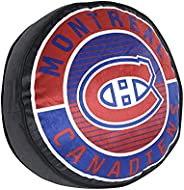 """Nemcor NHL Montreal Canadiens 14"""" Decorative Puck Pillow for Hockey Sports Fans Multi-Colour 97921-CUS-PU"""
