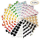 kuou 13 Sheets Photo Mounting Stickers, Paper Corners Stickers Photo Corners Self Adhesive for DIY Scrapbooking, Picture Album,Multicolored