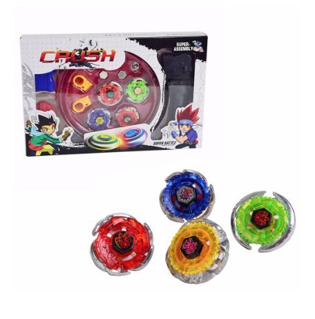 Crush Bey Battling Blades Game Tops Metal Fusion Starter Set Launchers and Arena Included
