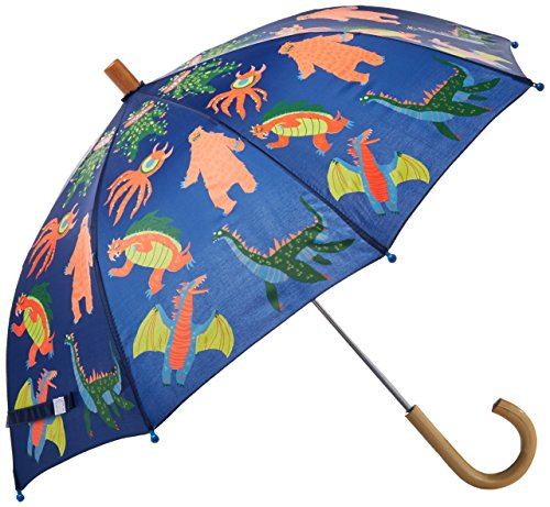 Hatley Little Boys' Printed Umbrellas, Mega Monsters, One - Hatley Animal