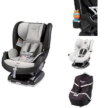 Peg Perego USA Primo Viaggio Convertible Car Seat Alcantara Bundle