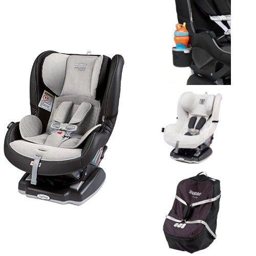 Peg Perego USA Primo Viaggio Convertible Car Seat, Alcantara Bundle