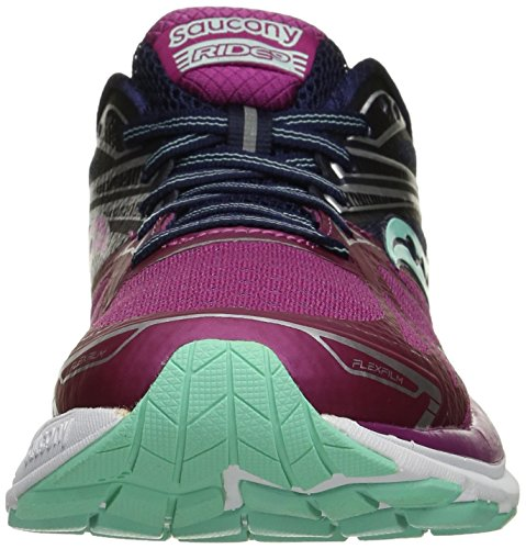 9 Pink Women's Saucony US W Ride Purple Shoe Multicoloured Blue Purple Running qpERR7xwvg