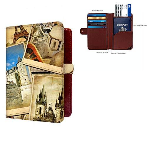 Shopmania Canvas Printed Premium PU Leather Passport Holder Travel Wallet Cover Case Credit card /& Money Storage Organizer SPHW-058