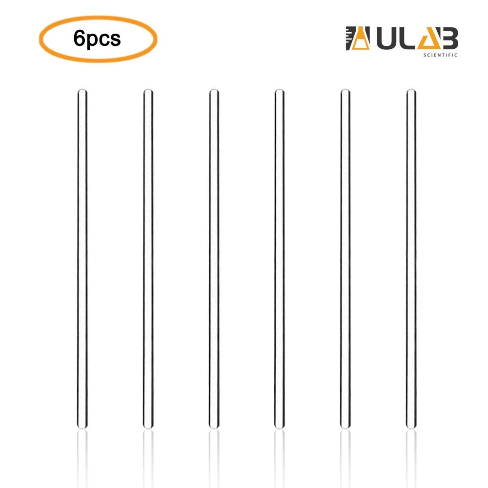 ULAB Scientific Glass Stirring Rods, Length 300mm, Dia.5mm, Glass Material, Pack of 6, UMP1002 by ULAB