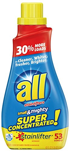 Mighty Concentrated Liquid (all Small & Mighty Super Concentrated Liquid Laundry Detergent, Stainlifter, 40 Fluid Ounces, 53 Loads)