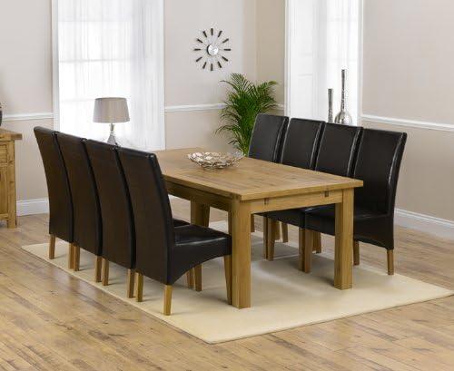 Corona Muebles de Comedor de Roble Extra Grande Mesa de Comedor ...