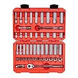 TEKTON 3/8 Inch Drive 6-Point Socket & Ratchet Set, 47-Piece (5/16 - 3/4 in., 8 - 19 mm)   SKT15301