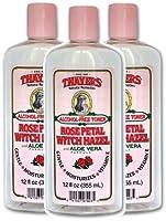 Thayers Alcohol-free Rose Petal Witch Hazel Toner (3 Pack) 12-oz. Bottles
