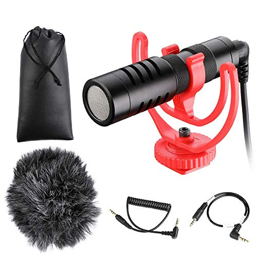 INSEESI Video Record Microphone Compact Video Micro On-Camera Recording Mic for Phone X 8 7 Huawei Nikon Canon DSLR