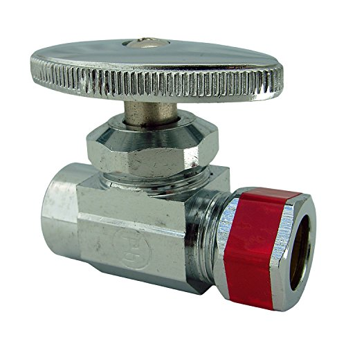 LASCO 06-7291 Straight Stop Brass Valve, 1/2