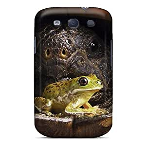 For Case Samsung Galaxy S5 Cover PC Phone (frog With Big Tortoise)
