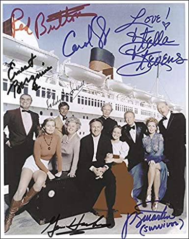 The Poseidon Adventure Movie Cast Photograph Signed With