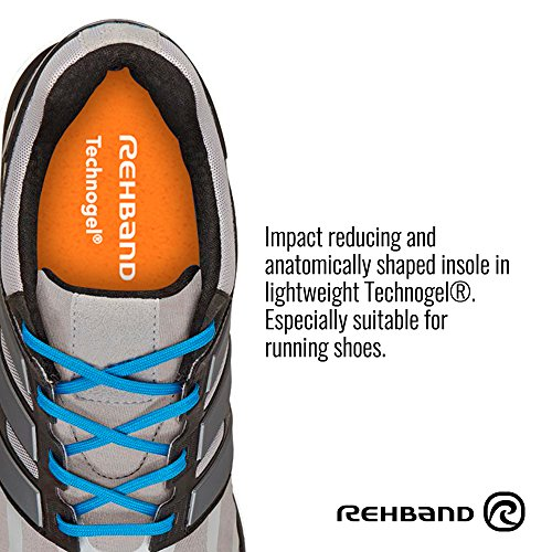 Rehband Running Insoles - 39-40 (Men 8.5-9 / Women 7-7.5) - Lightweight Technogel® Arch Support Gel Insoles For Running - Impact Reducing & Anatomically Shaped Foot Support - 1 pair by Rehband (Image #3)