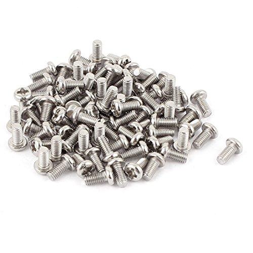 uxcell M3 x 6mm 304 Stainless Steel Phillips Pan Head Screws Bolt 60pcs - Bolt Pan
