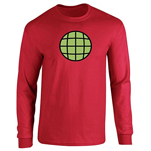 Planeteer Costume (Planeteer Costume Red 2XL Long Sleeve T-Shirt by Pop Threads)