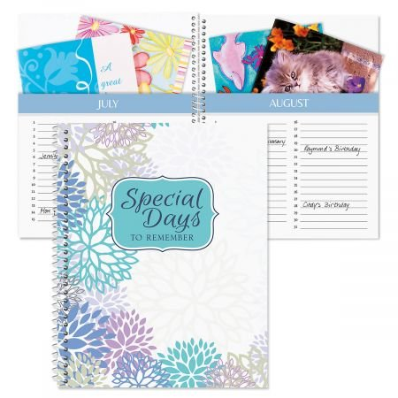 - Floral Card Organizer Book- Remember Special Days, Greeting Card Keeper, Softcover, 8