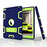 New iPad 9.7'' (2017) Case, Beimu 3in1 Combo Hybrid Heavy Duty Full-body Armor Defender Shock-Absorption High Impact Resistant PC+Silicone Case with Built-in Kickstand for Apple New iPad 2017 Released