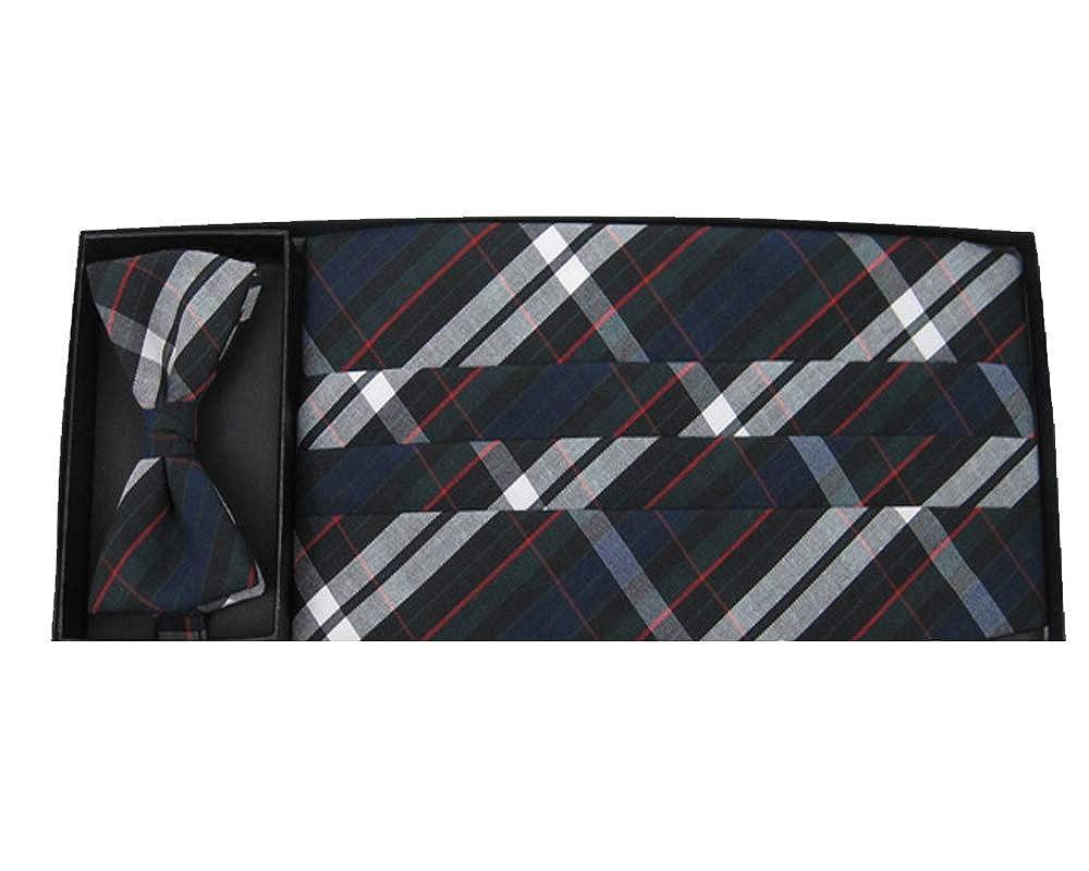 Regent Plaid Tie and Cummerbund Set