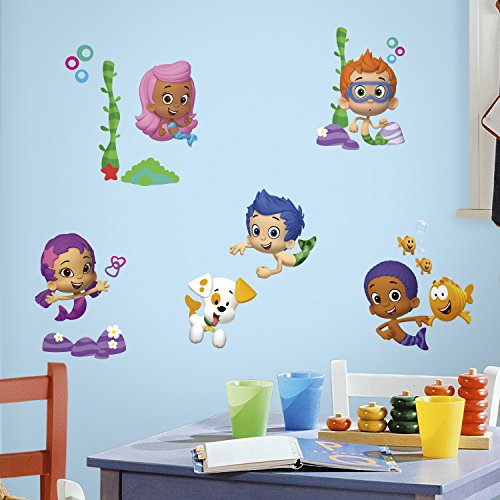 RoomMates RMK2404SCS Bubble Guppies Peel and Stick Wall Decals, 1-Pack (Bubble Decals)