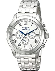 Invicta Mens 21657 Specialty Analog Display Swiss Quartz Silver-Tone Watch