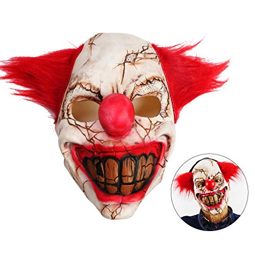 OWUDE Scary Clown Mask, Horror Creepy Latex Clown Masks for Adult Haunted House Dressing Halloween Costume Masquerade Party Cosplay Props (Rotten Face Clown) for $<!--$11.99-->