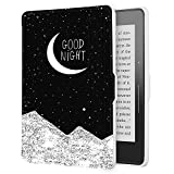 Case for Kindle Voyage, The Thinnest and Lightest Protective Premium PU Leather Slim Shell Cover with Auto Sleep/Wake Function For Amazon Kindle Voyage(2014), Night