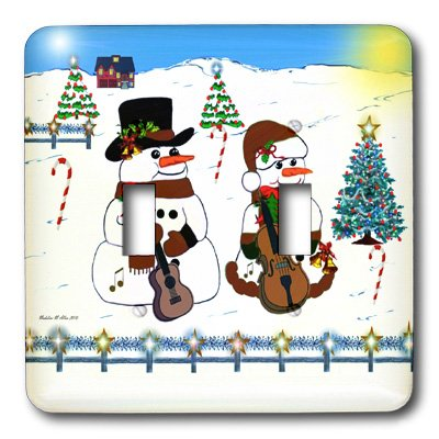 3dRose LLC lsp_6496_2 The Snowman Band, Double Toggle (Snowman Band)