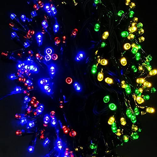 TRENDBOX – 20M 65ft Colorful Solar Energy Powered 200 LED String Fairy Bright Light Decorative Atmosphere Lamp for Wedding Deco X Mas Party Garden Christmas Tree Decoration