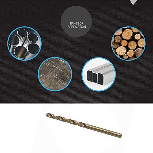 Oro M35 Agujero de acero inoxidable Taladro de metal de metal Rectificado completo Broca helicoidal de cobalto Punz/ón de fresado de aleaci/ón de aluminio 6.5MM