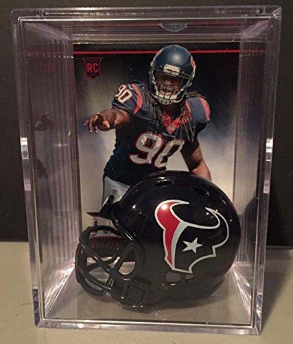 Houston Texans NFL Draft Helmet Shadowbox w/ Jadeveon Clowney card