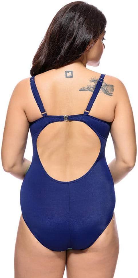 GREQ Ensembles de Bikini pour Femmes Maillot de Bain Une pièce Femme Taille Plus Jupe Taille Maillot de Bain Mode Impression Couverture Ventre Taille Minceur-Blanc_66 Blanc