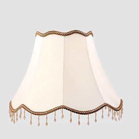 Blanco pantallas de lámparas, Tambor Pantalla de lámpara cónico Grande Tela Pantalla de lámpara para lámpara de mesa Lino Sombra clara Cama Cobertor de lámpara Poseedor para E27 portalámparas,D40cm: Amazon.es: Hogar