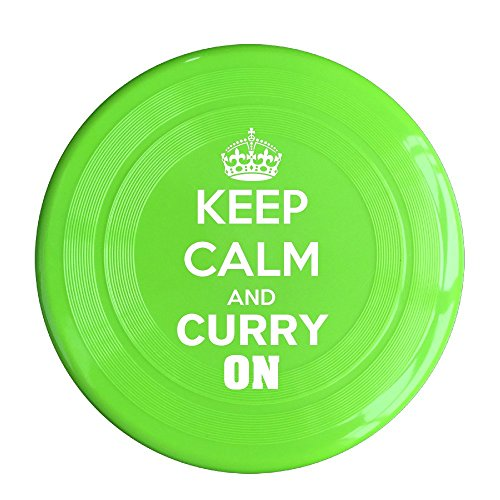 Evil Butler Costume (LINNA Unisex Keep Calm And Curry On Outdoor Game, Sport, Flying Discs,Game Room, Light Up Flying, Sport Disc ,Flyer Frisbee,Ultra Star KellyGreen One Size)