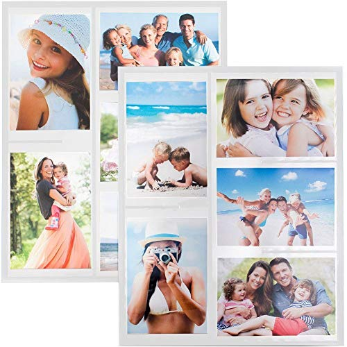 Wind & Sea Magnetic Picture Collage Frame for Refrigerator, 2-Pack, White (Fan Preserved Sea)