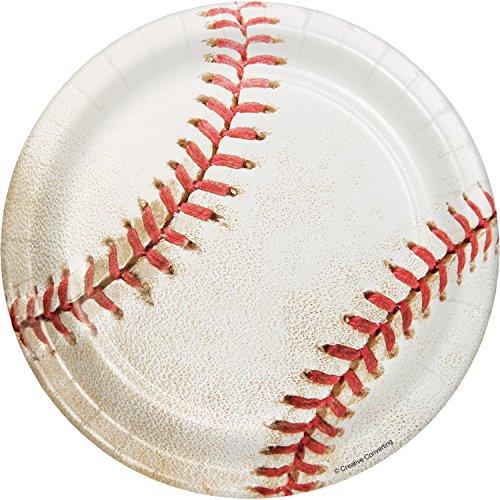 Baseball Paper Plates (Baseball Dessert Plates, 24)