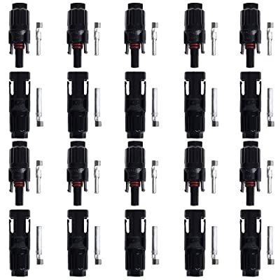 Best Cheap Deal for BTSKY™ 10 Pairs of HC4-PV10C HC4-PV10C MC4 Male/Female Solar Panel Cable Connectors by BTSKY - Free 2 Day Shipping Available