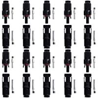 BTSKY® 10 Pairs of HC4-PV10C HC4-PV10C MC4 Male/Female Solar Panel Cable Connectors