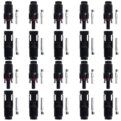 BTSKY™ 10 Paar MC4 Solarstecker Solar 10 Stecker 10 Buchse Kupplung Stecker Neu BTSKYTM