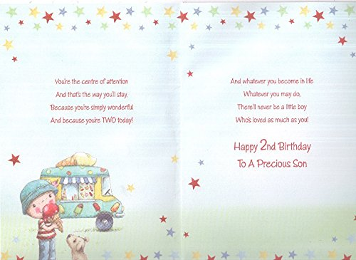 Happy 2nd Birthday Son Card