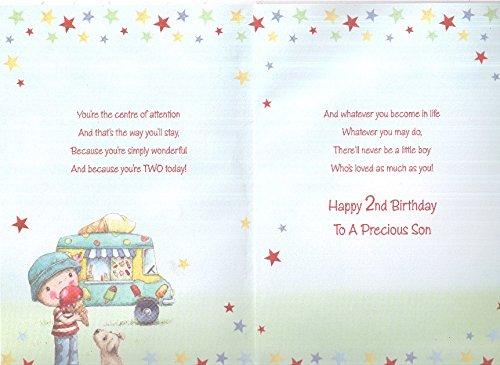 Happy 2nd Birthday Son Card