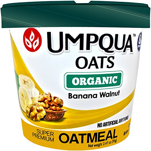 Umpqua Oats Oatmeal, Super Premium Variety Pack, Gluten Free, 2.57 Ounce Meals, 12 Count (Organic Banana, 12 Count)